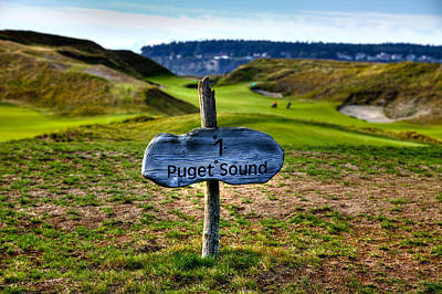 #1 At Chambers Bay Golf Course - 2015 U.s. Open Poster by David Patterson