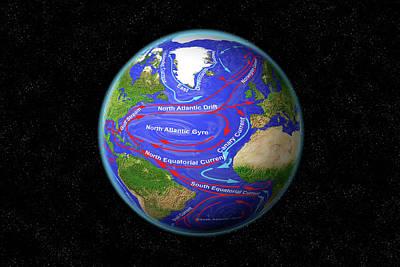 Atlantic Ocean Currents Poster by Carol & Mike Werner