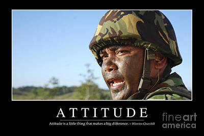 Attitude Inspirational Quote Poster by Stocktrek Images