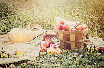 Autumn Harvest Poster by Heather Applegate