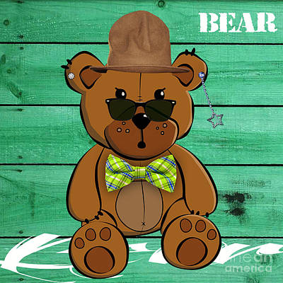 Baby Bear Collection Poster by Marvin Blaine