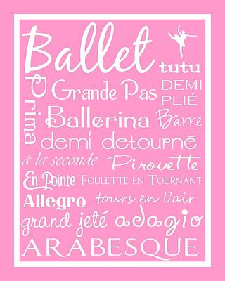 Ballet Subway Art Poster by Jaime Friedman