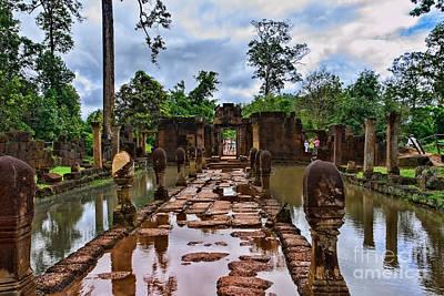 Banteay Srei Poster by Joerg Lingnau