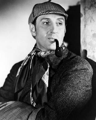 Basil Rathbone In The Adventures Of Sherlock Holmes  Poster by Silver Screen