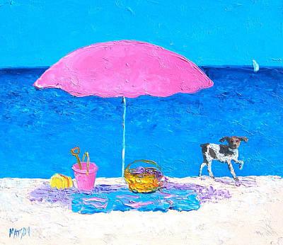 Beach Picnic Poster by Jan Matson