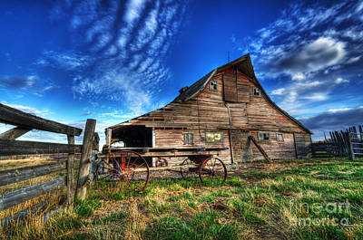 Beauty Of Barns 8 Poster by Bob Christopher