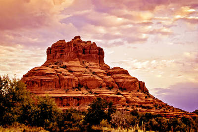 Bell Rock Vortex Painting Poster by Bob and Nadine Johnston
