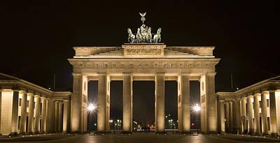 Berlin Brandenburg Gate Poster by Frank Tschakert