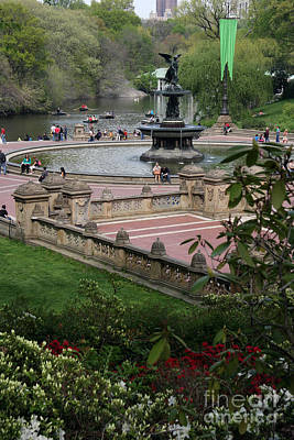 Bethesda Fountain - Central Park Nyc Poster by Christiane Schulze Art And Photography
