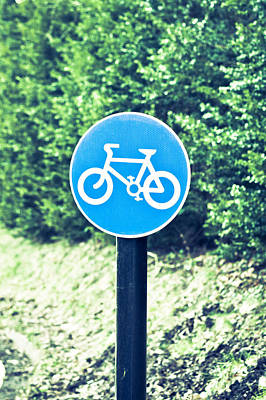Bicyle Route Poster by Tom Gowanlock