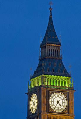 Big Ben Parliament Wesminster London Digital Painting Poster by Matthew Gibson
