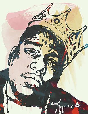 Biggie Smalls Modern Art Drawing Poster Poster by Kim Wang