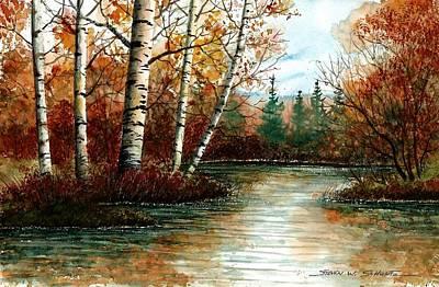 Birch Pond Poster by Steven Schultz