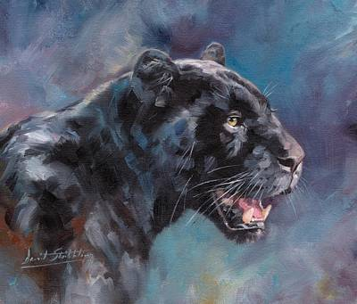 Black Panther Poster by David Stribbling