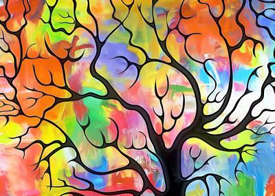 Black Tree Poster by Munir Alawi