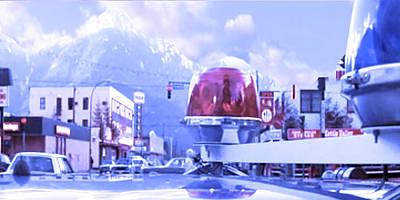Blue Mountain Haven On Earth Beautiful Snow Season Cool Kool   Pink White Rush Party Engage Chrismas Poster by Navin Joshi