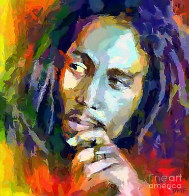 Bob Marley Poster by Dragica  Micki Fortuna