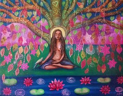 Bodhi Tree Poster by Alice Mason