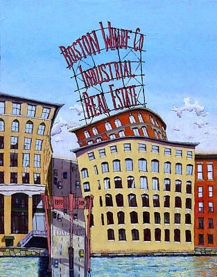 Boston Wharf Co. Poster by Mike Gruber