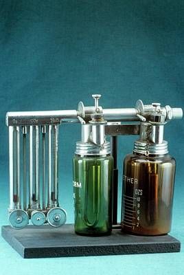 Boyle's Apparatus For General Anaesthesia Poster by Science Photo Library
