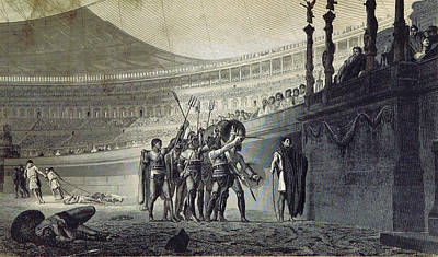 Bread And Circus, Gladiators, Ancient Poster by British Library