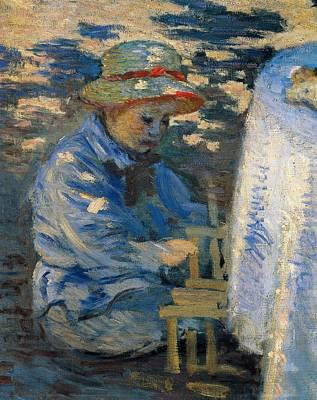 Breakfast In The Garden Poster by Claude Monet