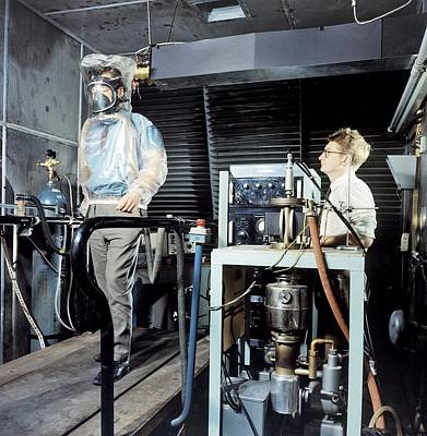 Breathing Apparatus Test Facility Poster by Crown Copyright/health & Safety Laboratory Science Photo Library