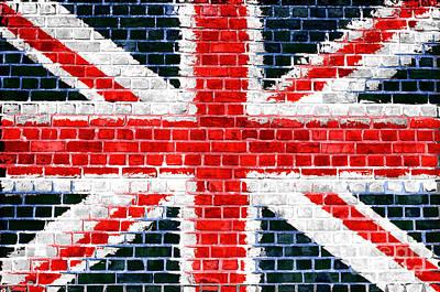 Brick Wall Britain Poster by Antony McAulay