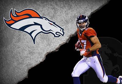 Broncos Eric Decker Poster by Joe Hamilton
