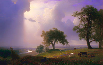 California Spring Poster by Albert Bierstadt