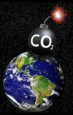 Carbon Dioxide Bomb Poster by Victor De Schwanberg