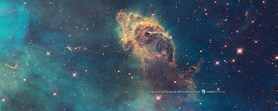 Carina Nebula Poster by Nasa