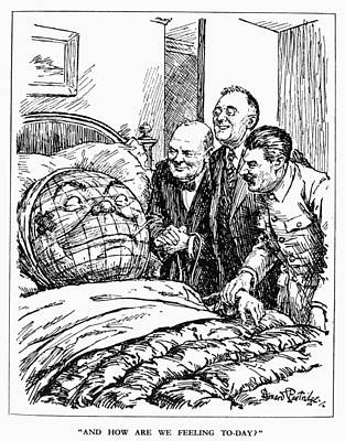Cartoon: Big Three, 1945 Poster by Granger