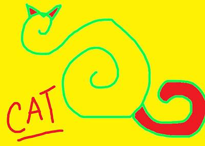 CAT Poster by Anita Dale Livaditis