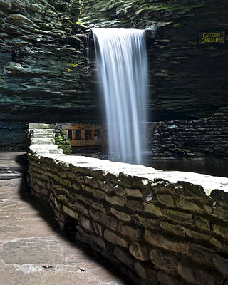 Cavern Cascade Poster by Frozen in Time Fine Art Photography