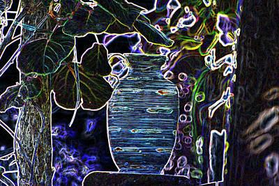 Still Life Wine Jar Poster by Dave Byrne