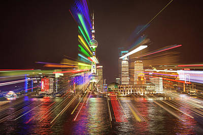 China, Shanghai Downtown Buildings Poster by Jaynes Gallery