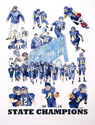 Chs Football Poster by Brandon Undeberg