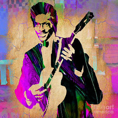 Chuck Berry Collection Poster by Marvin Blaine