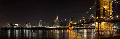 Cincinnati At Night Poster by Twenty Two North Photography