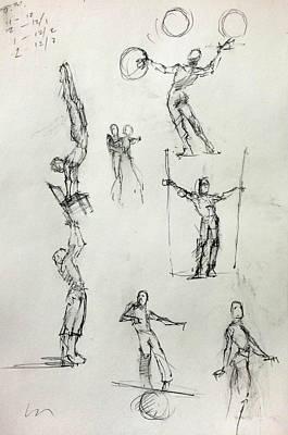 Circus Studies Poster by H James Hoff
