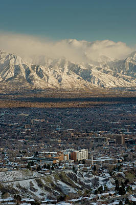 Clean Air From Ensign Peak Area Looking Poster by Howie Garber