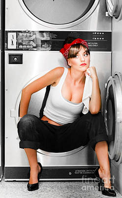 Cleaning Lady With A Dream Poster by Jorgo Photography - Wall Art Gallery