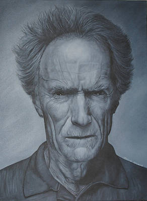 Clint Eastwood Poster by David Dunne