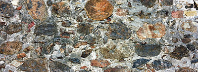 Close-up Of A Stone Wall, St. John, Us Poster by Panoramic Images