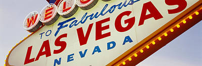 Close-up Of A Welcome Sign, Las Vegas Poster by Panoramic Images