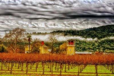 Clouds Over Napa Valley Poster by Mountain Dreams