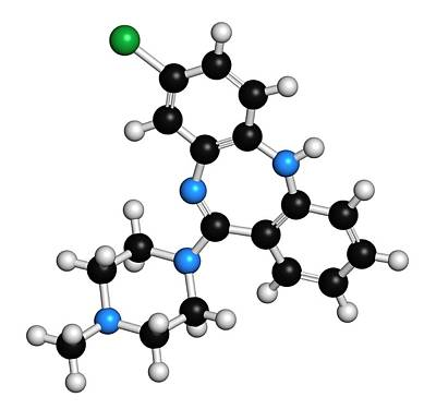 Clozapine Antipsychotic Drug Molecule Poster by Molekuul