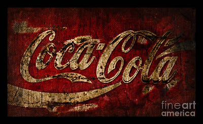 Rustic Coca Cola Sign Poster by John Stephens