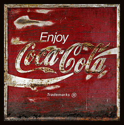Coca Cola Grunge Sign Poster by John Stephens
